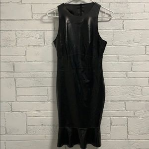House of CB latex trinette dress small